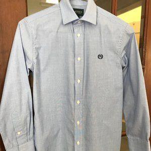 Ralph Lauren Boys 14  Dress Shirt blue